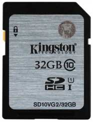 Карта памяти MicroSDHC 32GB Kingston Class10 SD10VG2/32GB