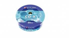 Диск CD-R Verbatim 700Mb 52x Cake Box (43726)