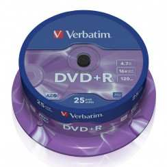 Диск DVD+R Verbatim 4.7Gb 16x Cake Box 43500