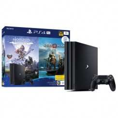 Консоль игровая Sony PlayStation PS4 Pro 1TB + Horizon Zero Dawn + God Of War (CUH-7208B)