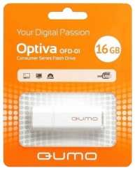 Накопитель USB-Flesh 16Gb Qumo Optiva 02 White