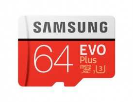 Карта памяти MicroSDXC 64GB Samsung EVO Plus (SAM-MB-MC64GARU)